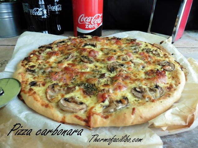 Pizza carbonara+