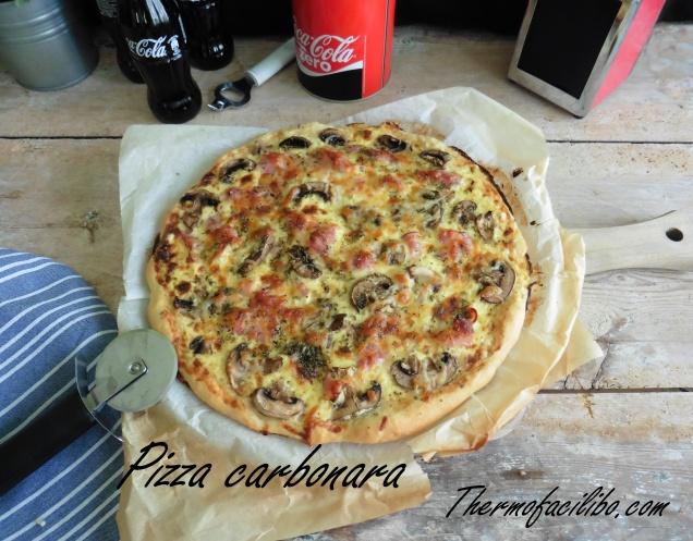 Pizza carbonara+1