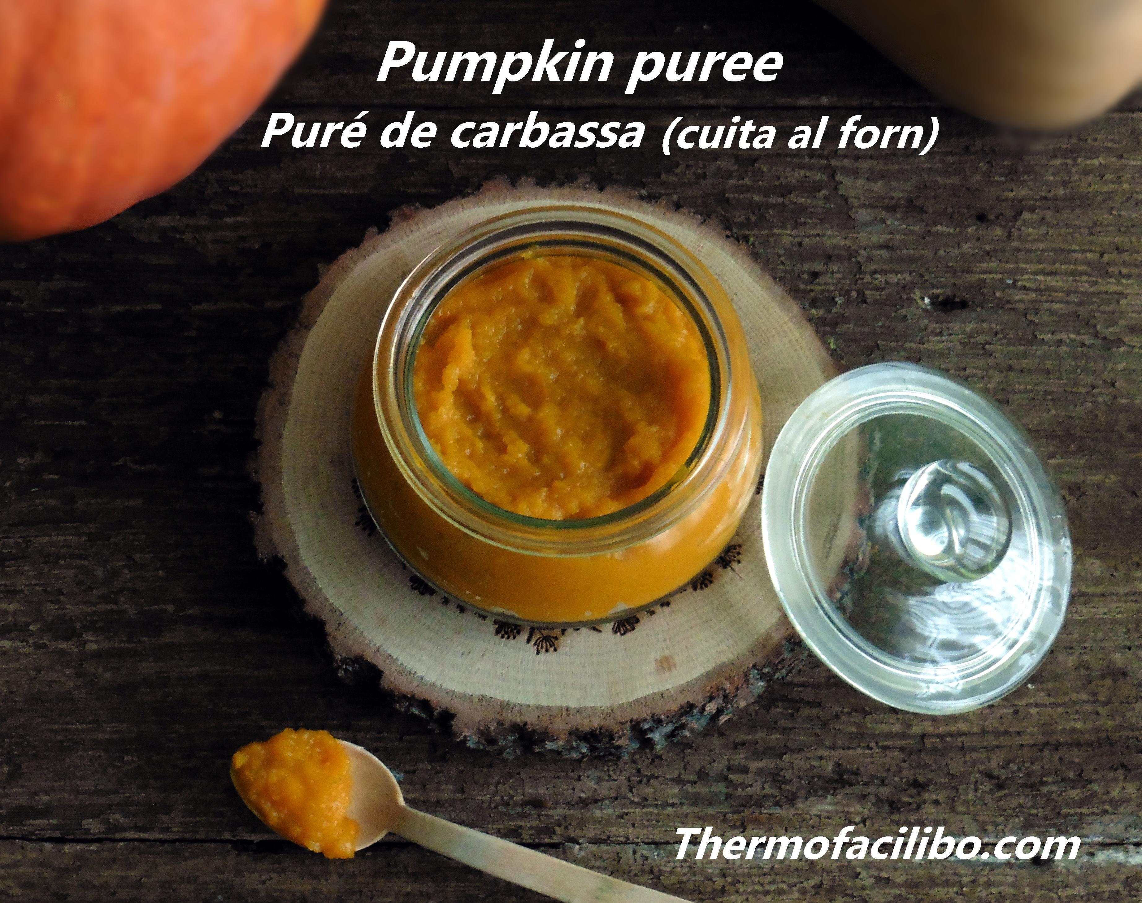 Pumpkin puree Puré de carbassa cuita al forn