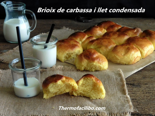 Brioix de carbassa i llet condensada.+