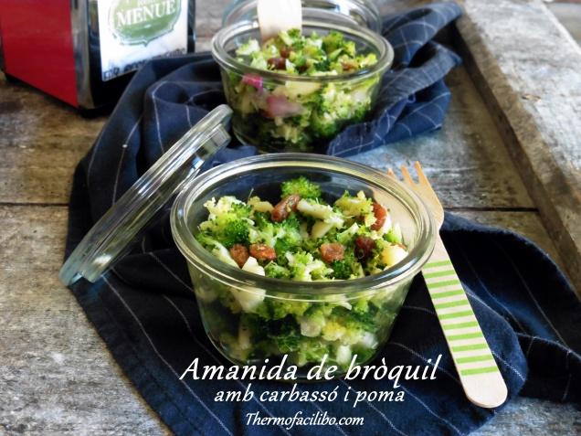 amanida de bròquil amb carbassó i poma++