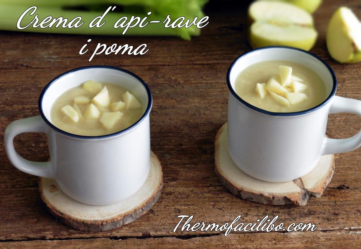 Crema d'api-rave (Celerí) i poma