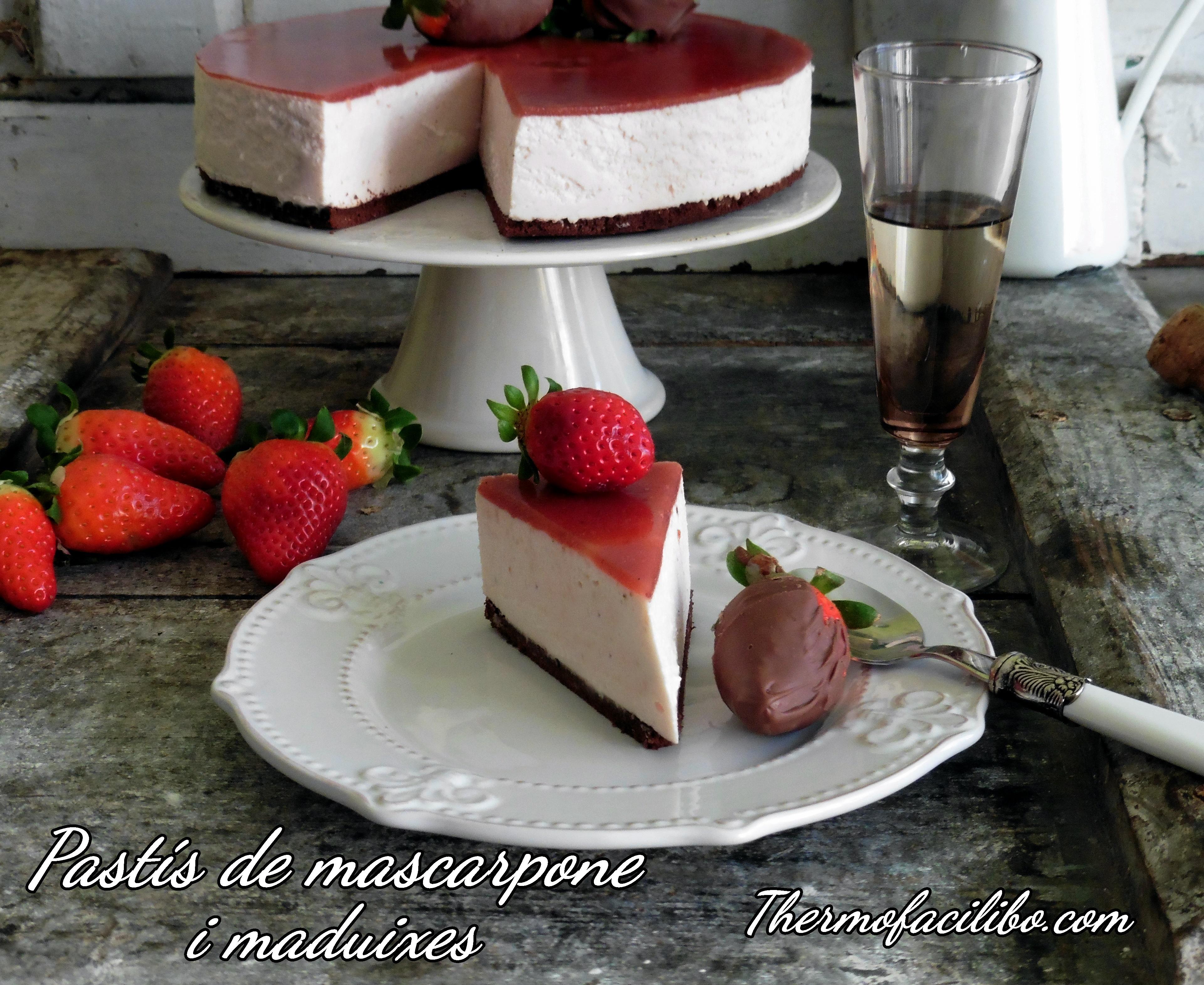pastís de mascarpone i maduixes++