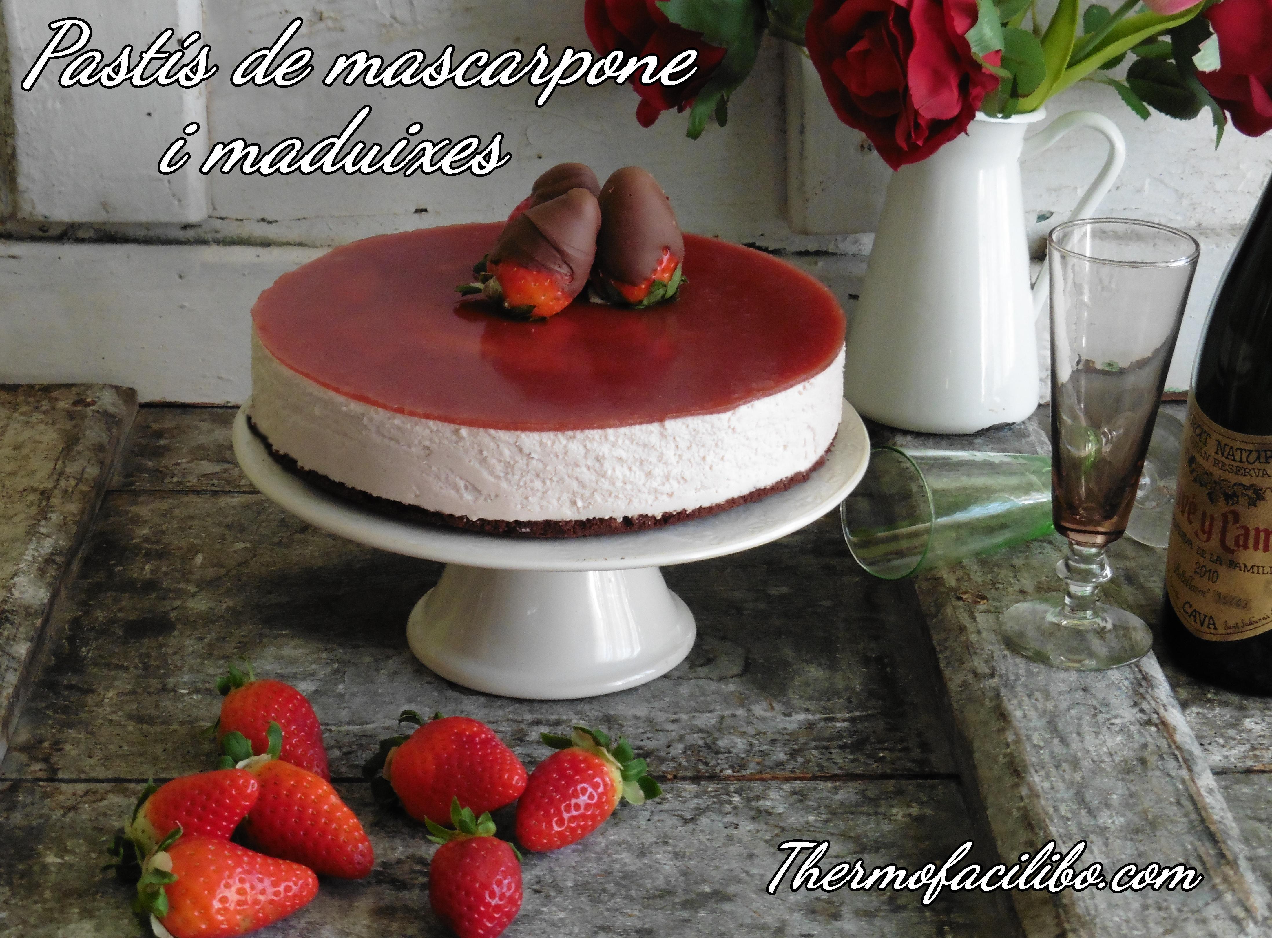 pastís de mascarpone i maduixes+