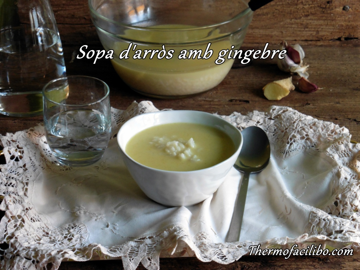 Sopa d'arròs amb gingebre
