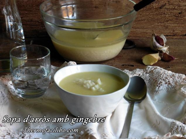 sopa d arros amb gingebre
