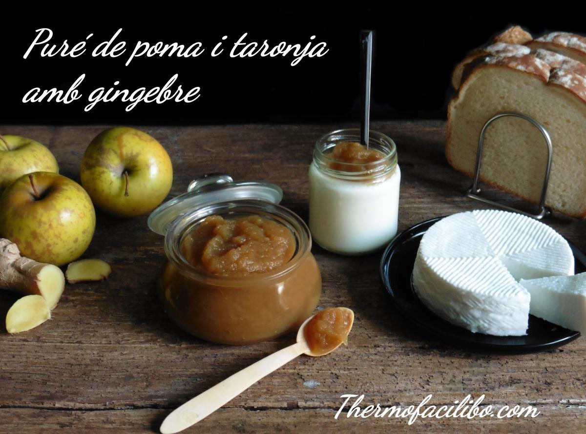 Puré de poma i taronja amb gingebre