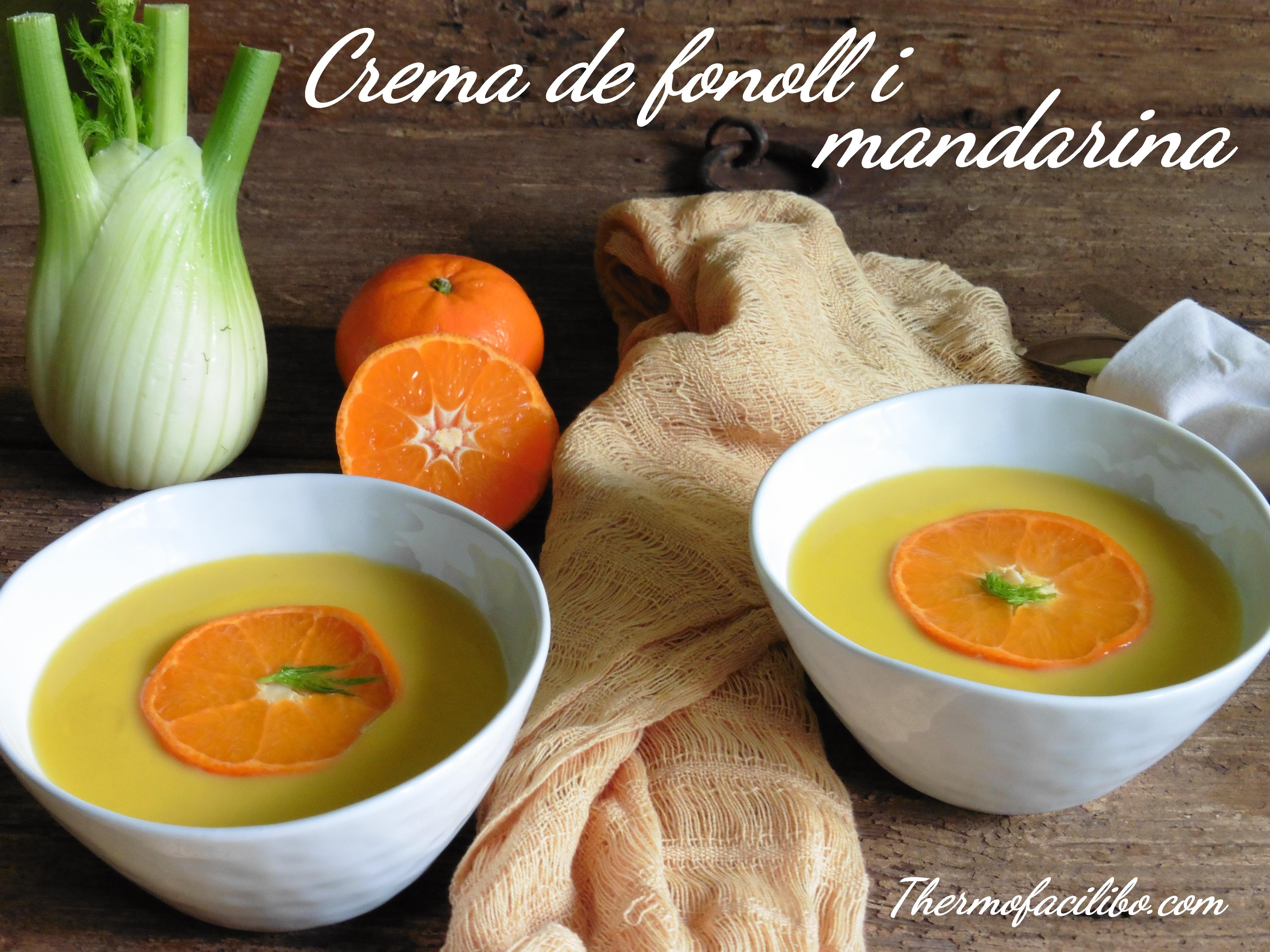 Crema de fonoll i mandarina
