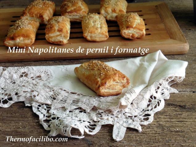 Mini napolitanes de pernil i formatge