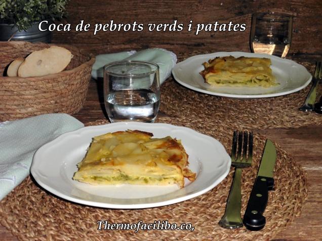 Coca de pebrots verds i patates