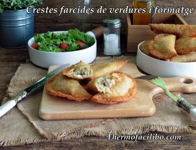 Crestes de farcides de verdures i formatge