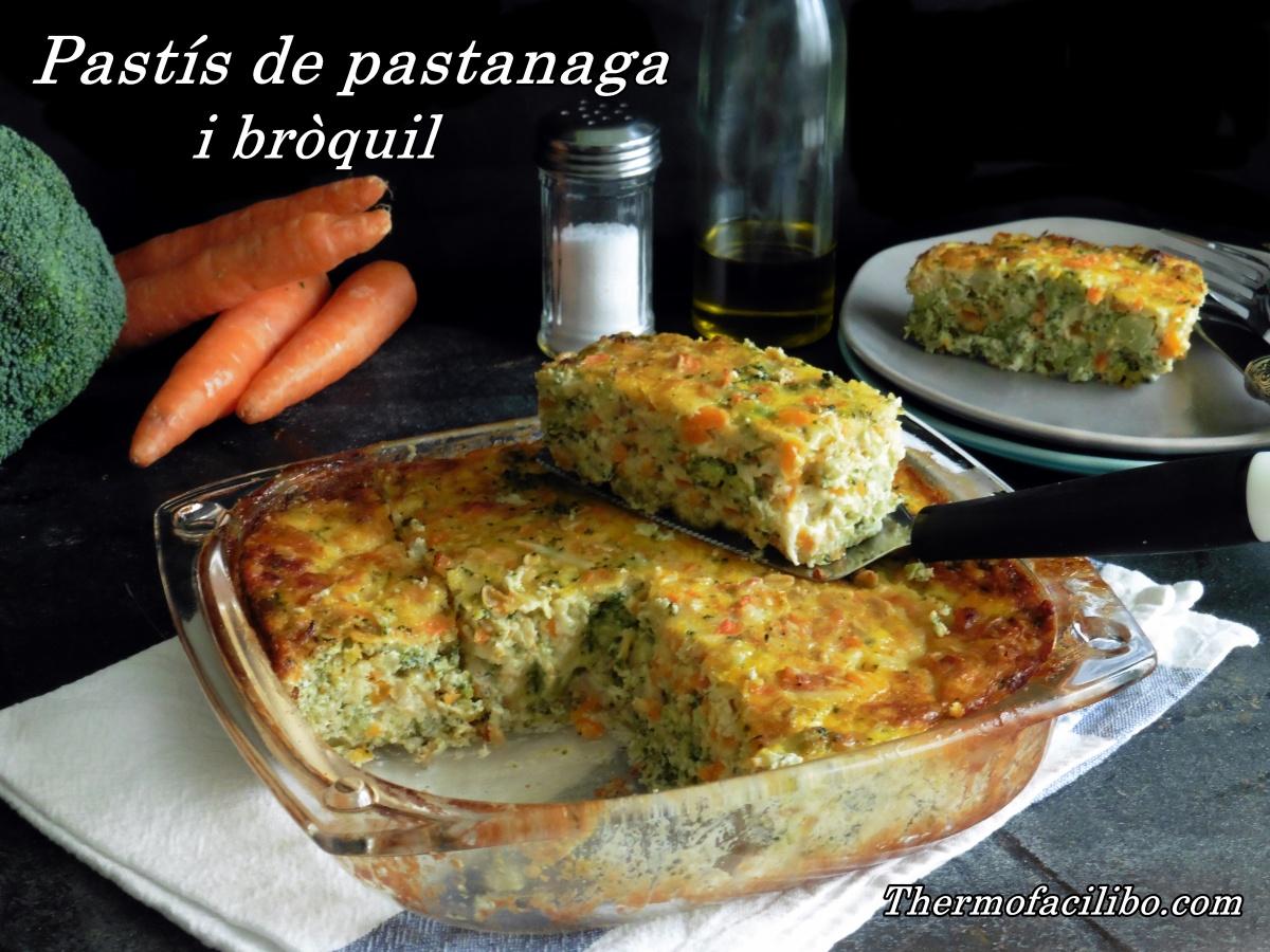 Pastís de pastanaga i bròquil