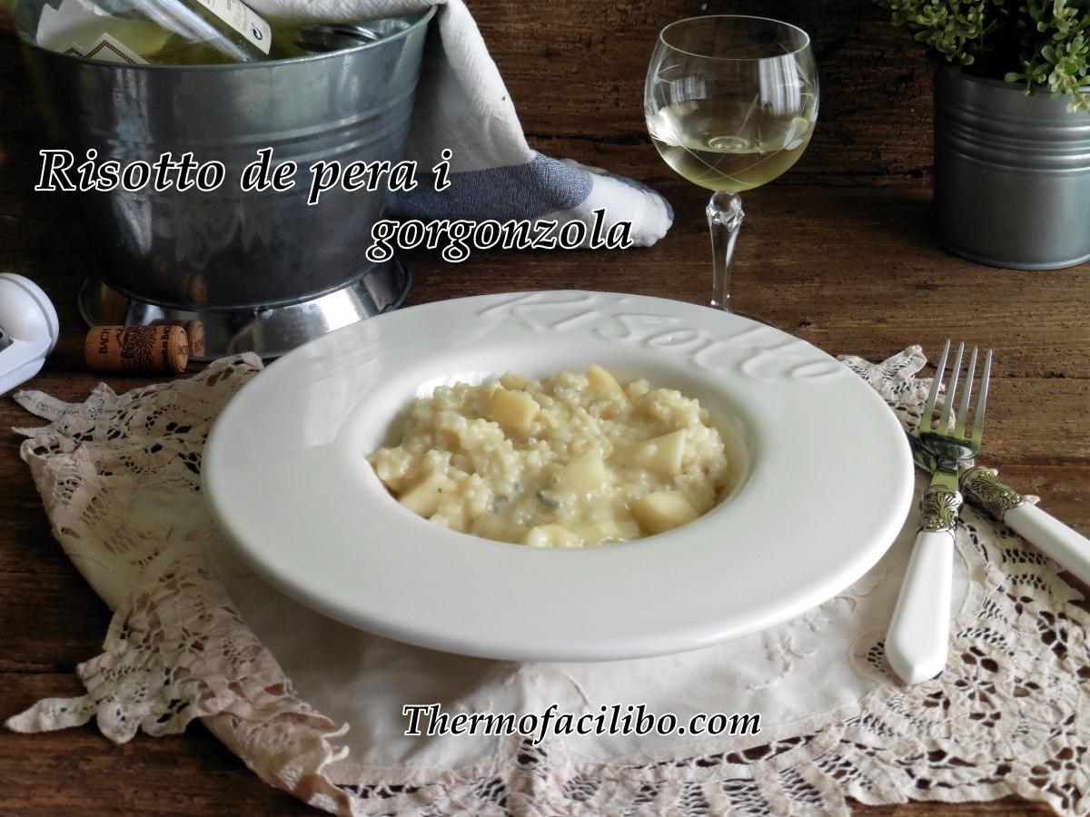 Risotto de peres i gorgonzola